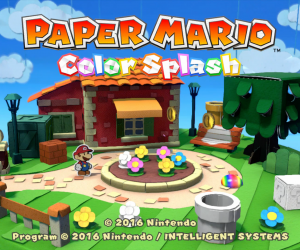 Paper Mario: Color Splash Title Screen