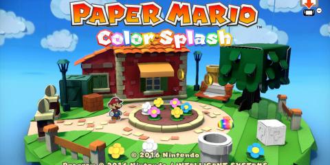 Paper Mario: Color Splash Title Screen